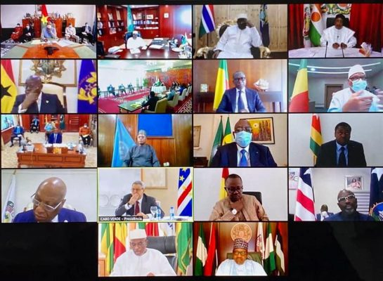 ECOWAS Authority of Heads of State and Government holds virtual extraordinary session to strengthen the fight against covid-19