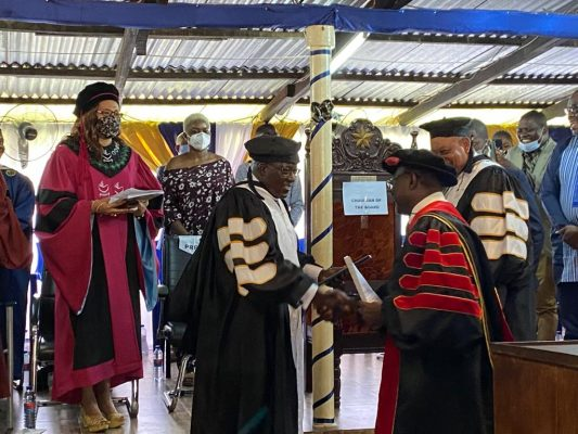 Speaker of the ECOWAS Parliament bags Honorary Doctorate Degree from Alma mater