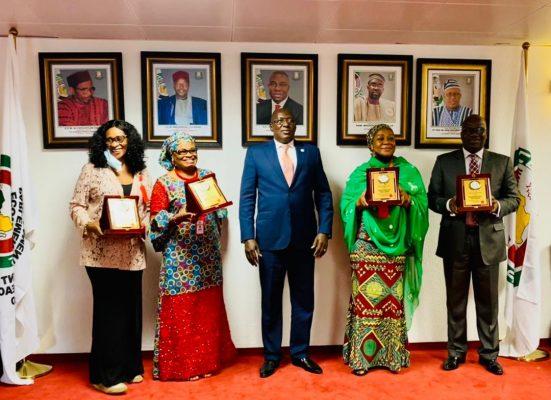 Four ECOWAS Parliament staff members awarded
